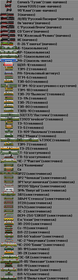 список сета